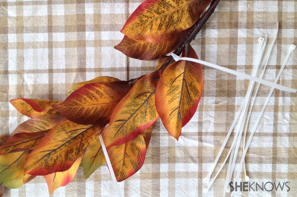 DIY fall dollar store wreath | Sheknows.ca - adding more stems