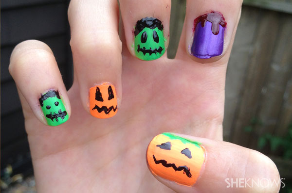 Jack o'pattern halloween nail art   Sheknows.ca - final product