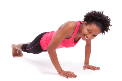Woman doing push-ups   Sheknows.ca