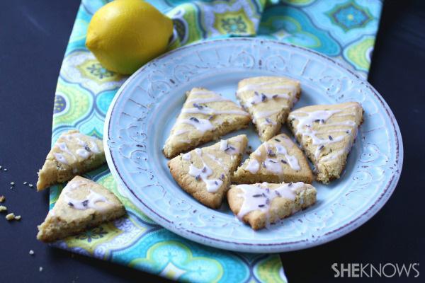 Gluten-free Goodie of the Week: Lemon-lavender shortbread cookies with lemon glaze