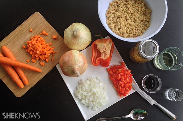 Quinoa curry salad | Sheknows.ca - first step