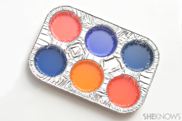 Corn starch finger paints