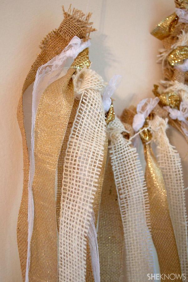 DIY burlap ribbon  lace garland