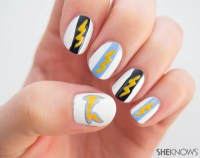 Nail design: San Diego Chargers manicure tutorial