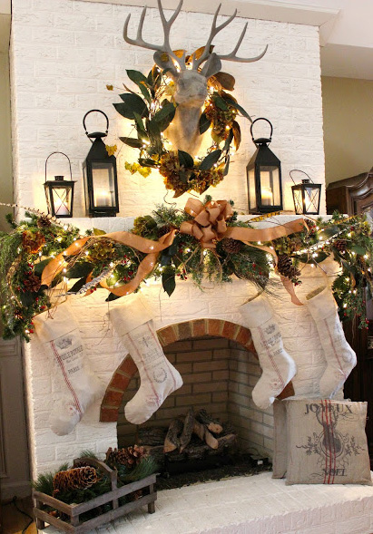Stealing Christmas Recreate Holiday Mantel Displays