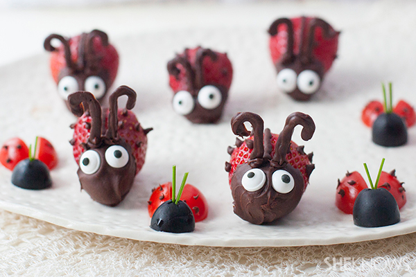 Valentine love bug snacks