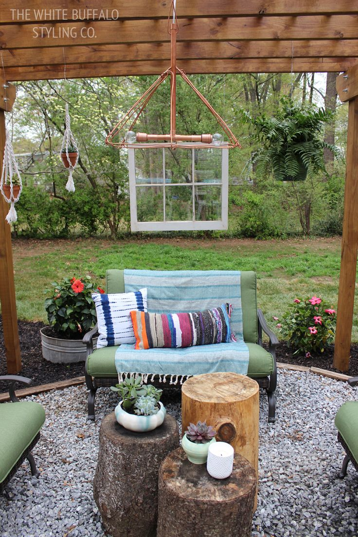 home and gardening articles give your backyard some bohemian flare
