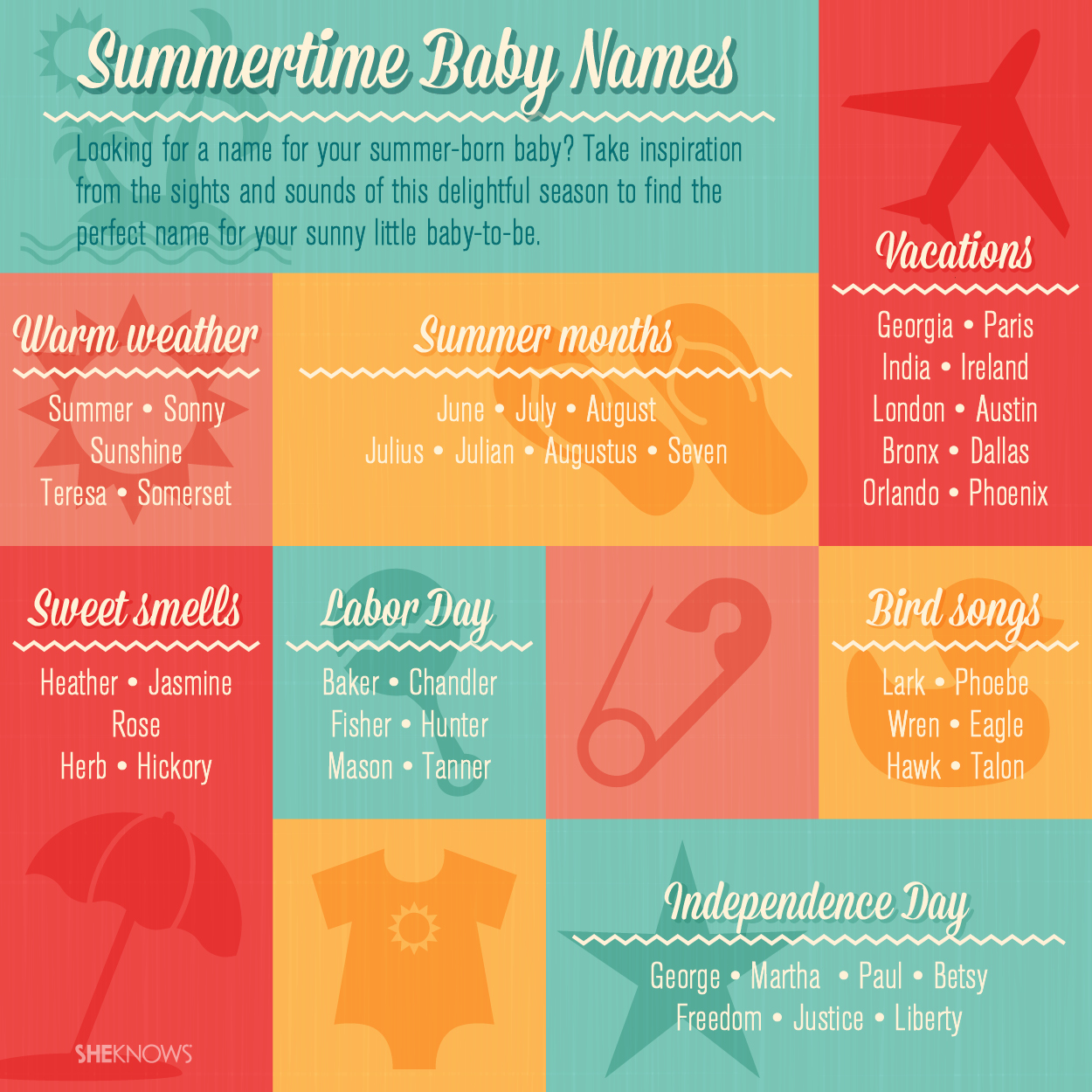 Baby names for summer babies