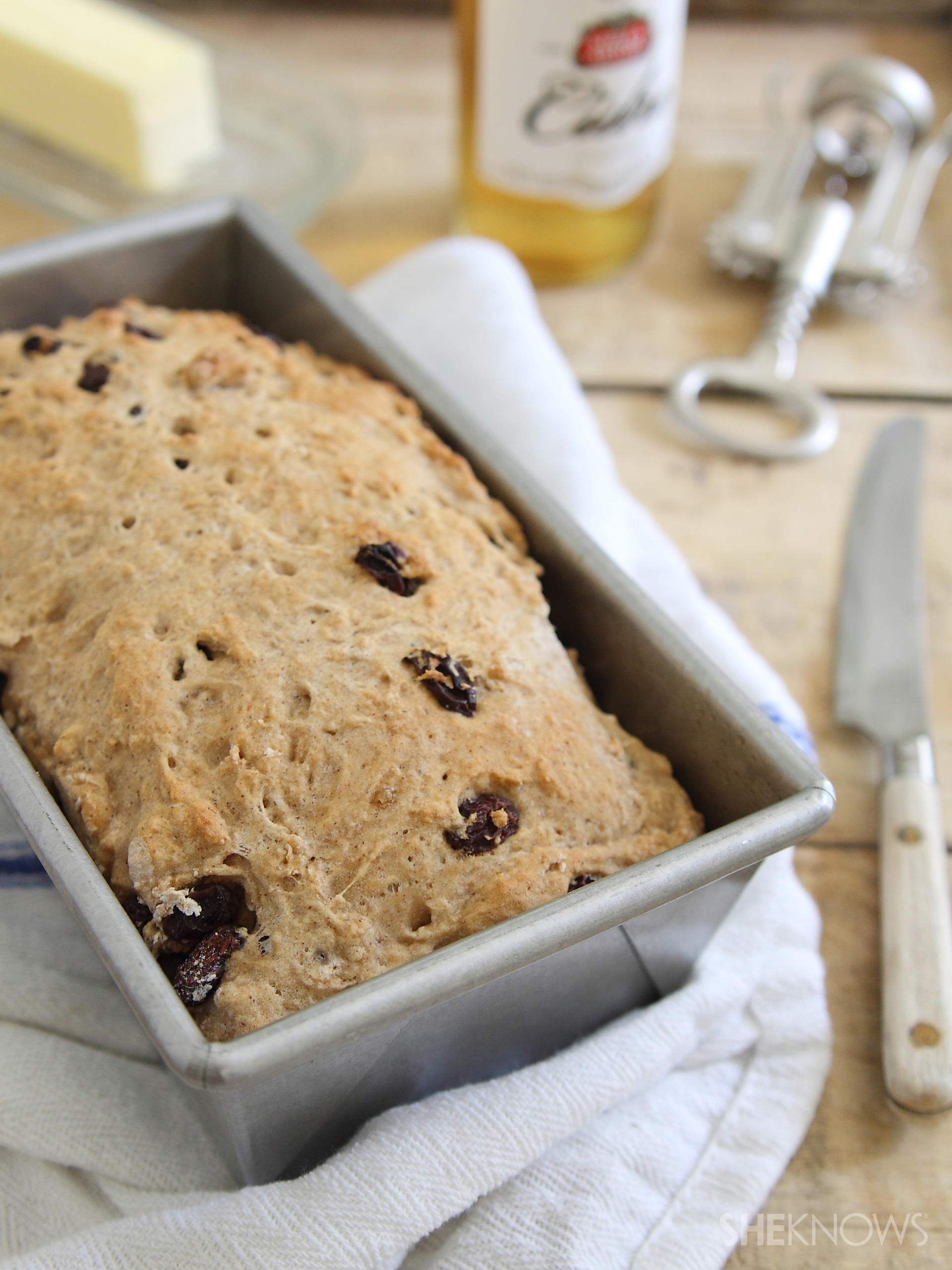 try a new beer bread with this cinnamon raisin hard cider