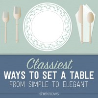 The right way to set the table, from simple to fancy