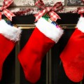 Families in the us have been hanging stockings above the fireplace