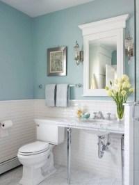 Blue bathroom wall idea | Dream House | Pinterest