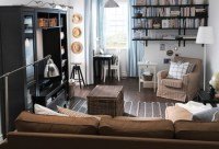 Black, White, and Tan - Living & family room ideas