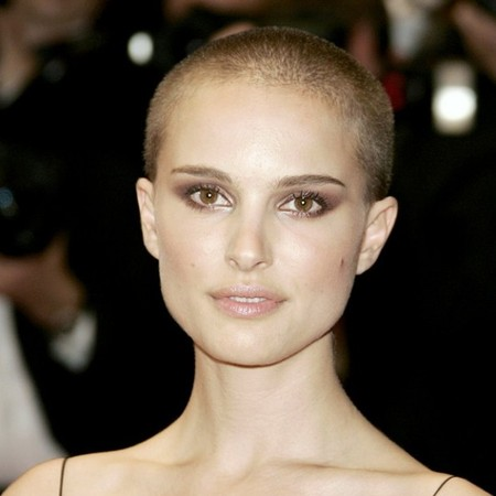 Natalie Portman shaved head