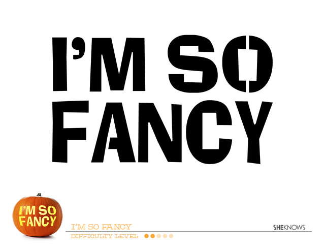Im So Fancy Pumpkin Carving Template Free Printable Coloring Pages