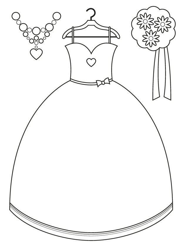 Wedding coloring pages: Bridesmaid accessories