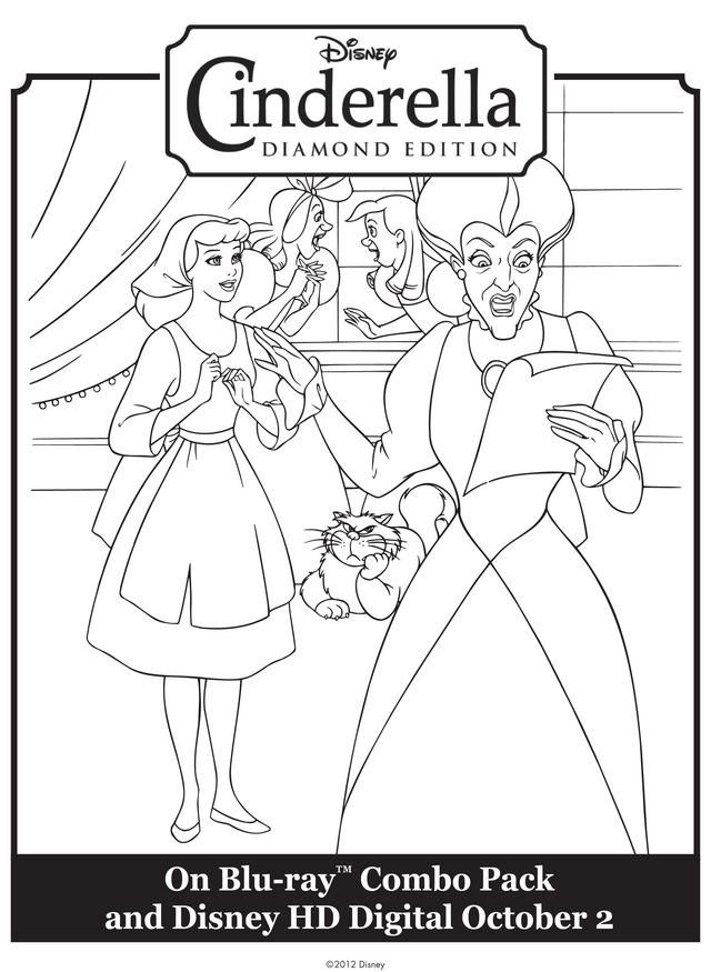 Cinderella Step Sisters Coloring Pages Coloring Pages