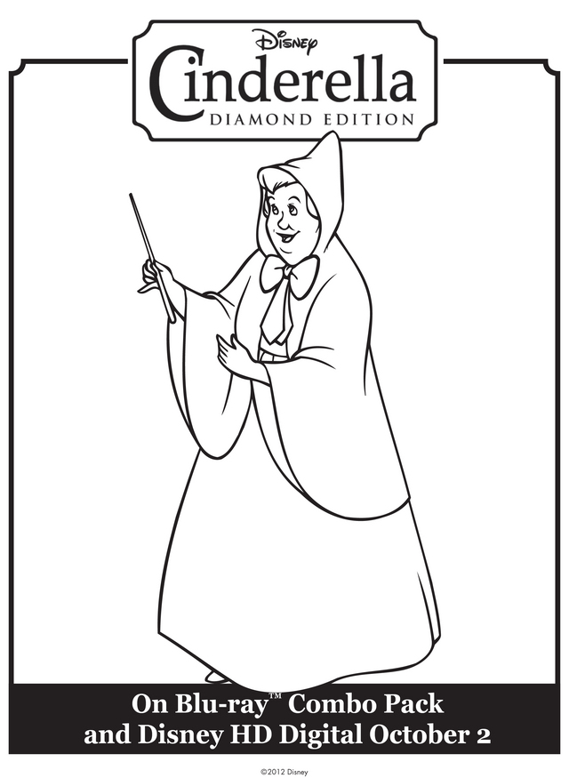 Character Coloring and Activity pages: Fairy Godmother