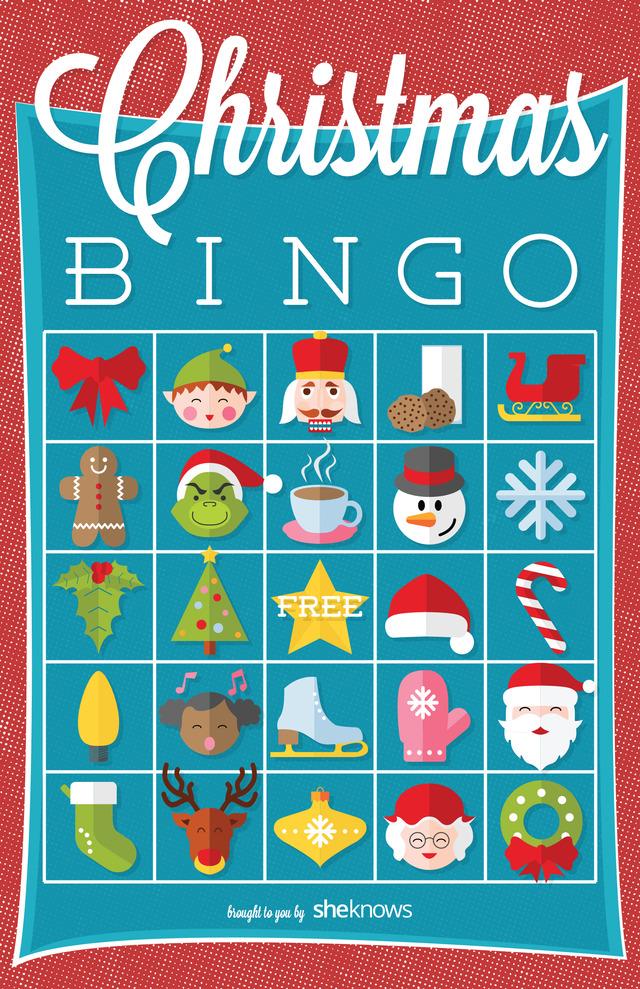 Christmas I Spy Bingo Version 2 Free Printable Coloring
