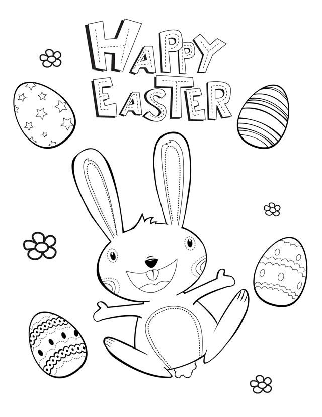 Easter coloring pages: Happy Easter