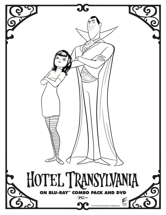 Character Coloring and Activity pages: Hotel Transylvania's