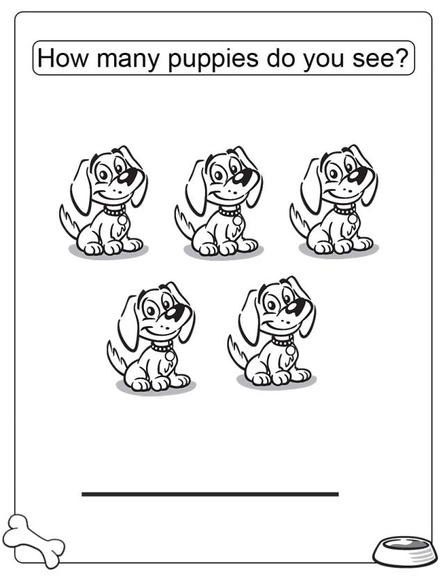 How Many Puppies Free Printable Coloring Pages