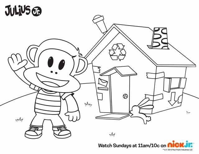 Character Coloring and Activity pages: Julius Jr.
