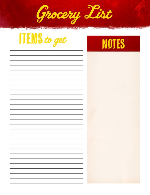 Grocery List Unbranded Free Printable Coloring Pages