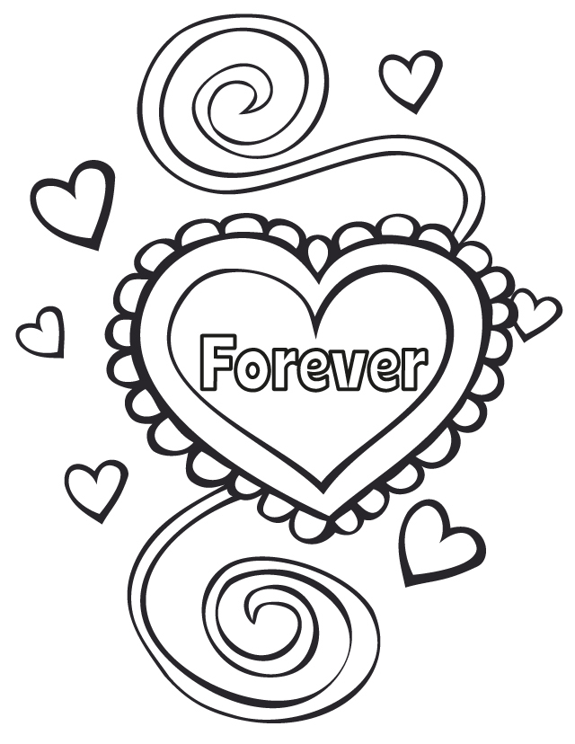 Wedding coloring pages: Wedding forever