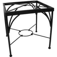 Meadowcraft Grayson Wrought Iron Patio Dining Table Base ...