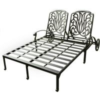 Darlee Elisabeth Cast Aluminum Patio Double Chaise Lounge ...