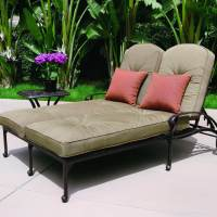 Darlee Elisabeth 2 Piece Cast Aluminum Patio Double Chaise ...