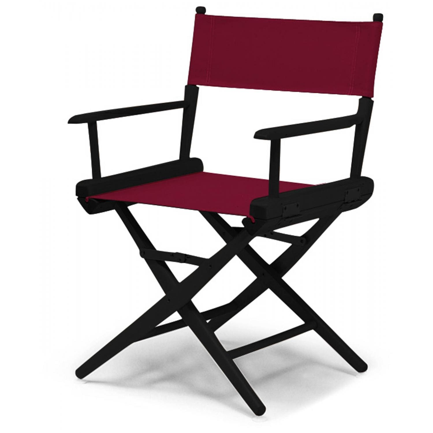 Famous Chair World Famous Dining Height Director Chair By Telescope Casual Black Burgundy