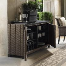Wicker Outdoor Patio Buffet Table