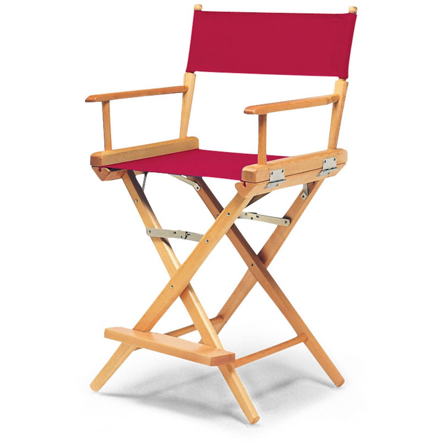 Famous Chair World Famous Counter Height Director Chair By Telescope Casual Varnish Red