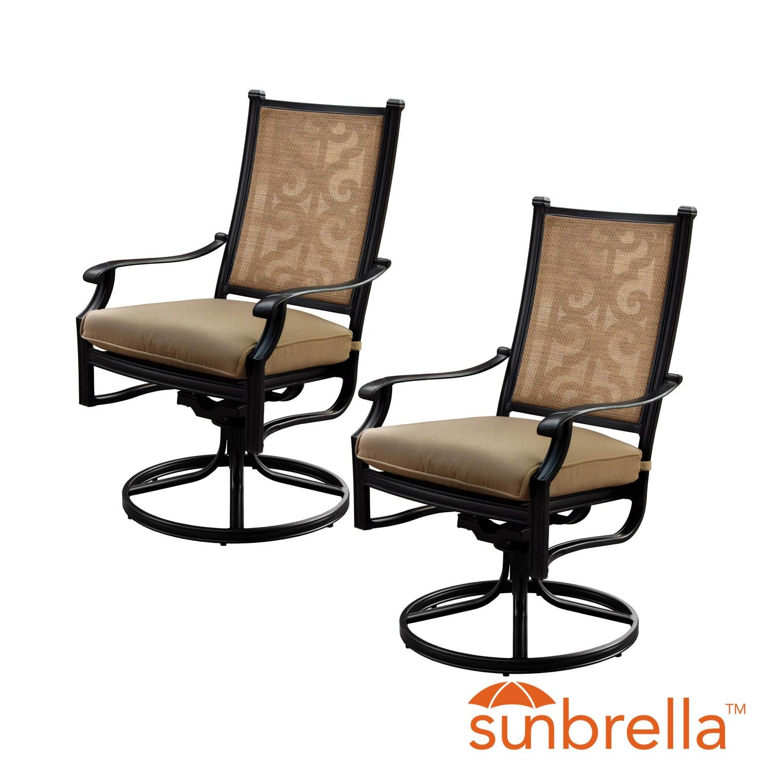 2 piece rocking chair cushions orange metal chairs bocage sling patio swivel rocker dining w