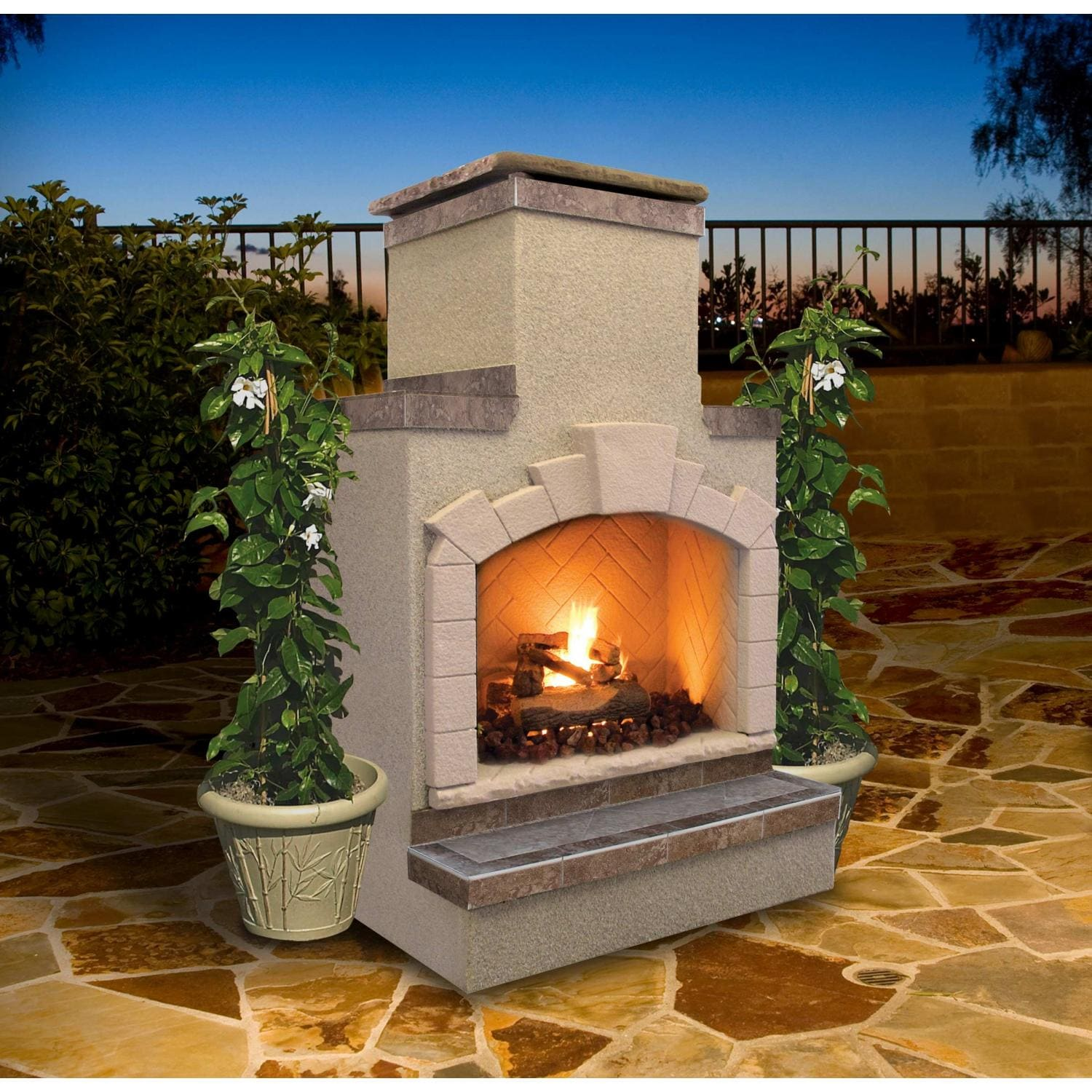 Diy Heatilator Gas Fireplace Conversion Fire Glass Rock With Cal Flame 48-inch Outdoor Propane Gas Fireplace With Stack