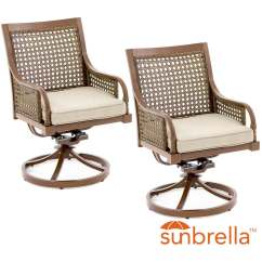 2 Piece Rocking Chair Cushions Used Covers For Sale Near Me Arabella Aluminum Patio Swivel Rocker Dining