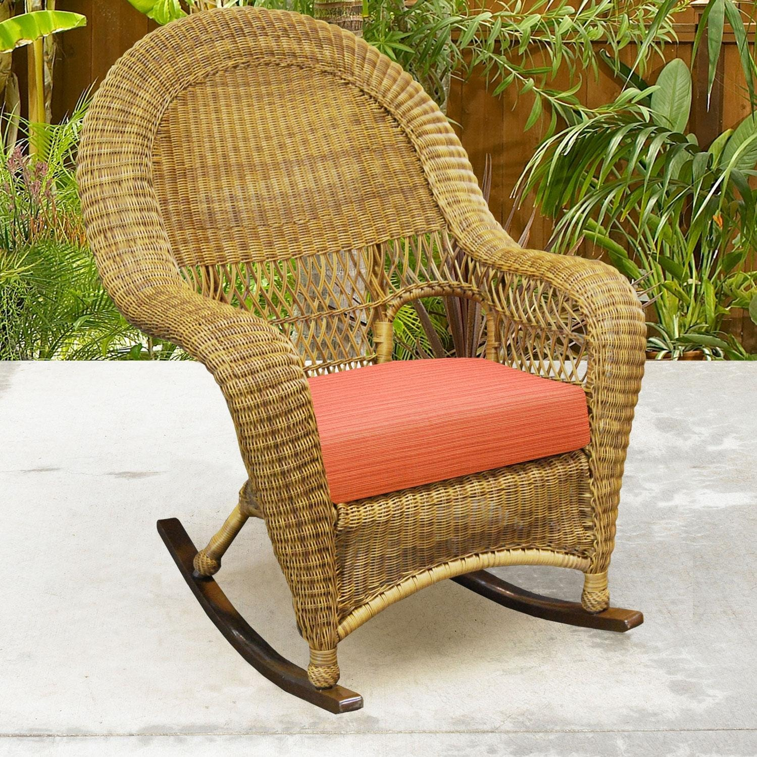 high back wicker chair cushions padded lawn chairs folding north cape port royal rocker walnut
