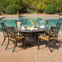Patio Dining Sets With Fire Pits