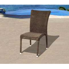 Stacking Resin Chairs High Chair Walmart Atlantic Bari Wicker Patio Dining Side