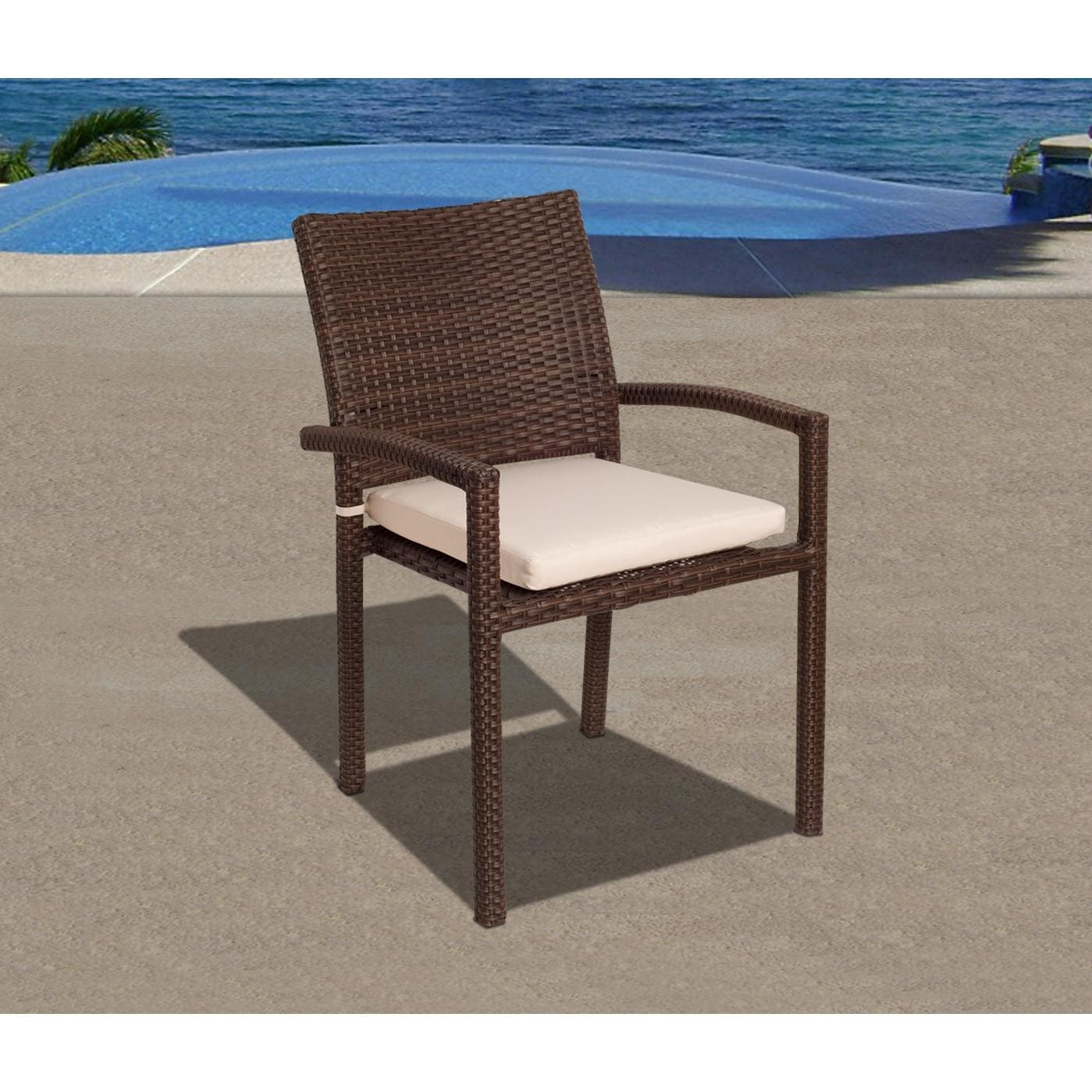 stacking resin chairs chair kitchen design atlantic liberty 6 person wicker patio dining set