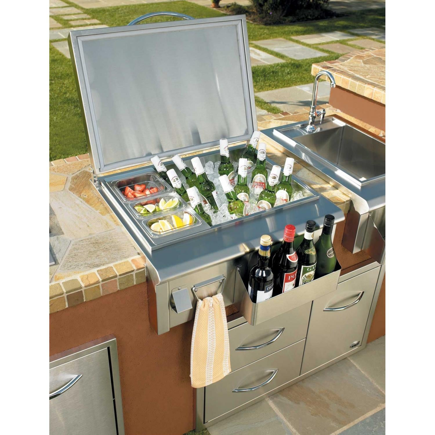 drop in grills for outdoor kitchens modern kitchen lights oci 27 inch drop-in ice bin cooler : shopperschoice.com