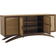 Outdoor Wicker Buffet Table