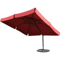 Darlee 10-Ft Square Cantilever Patio Umbrella With Base ...