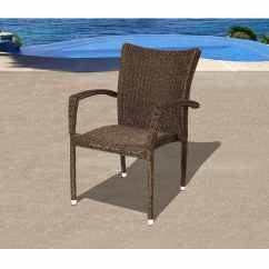 Stacking Resin Chairs Best Seat Cushion For Office Chair Atlantic Bari Wicker Patio Dining Arm