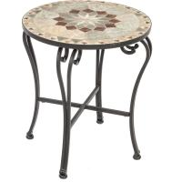 Alfresco Home Notre Dame Mosaic Side Table : Ultimate Patio