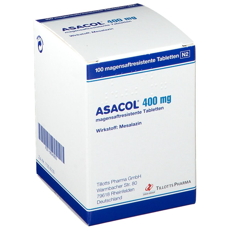 ASACOL 400 mg magensaftresistente Tabletten 100 St - shop ...