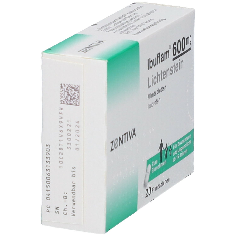 Ibuflam® 600 Lichtenstein Filmtabletten 20 St - shop ...