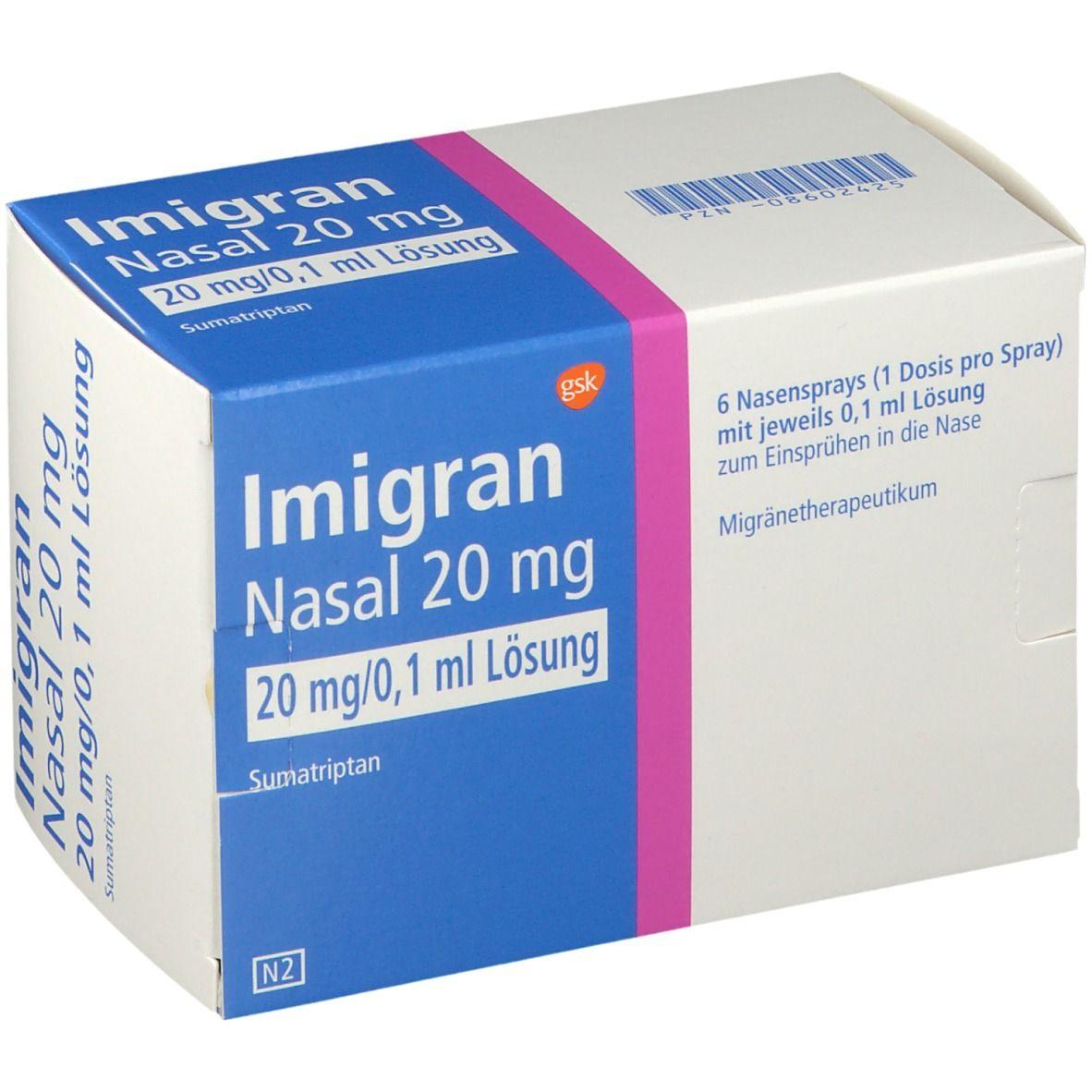 Imigran nasal 20 mg Nasenspray 6 St - shop-apotheke.com
